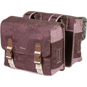 Basil Bohème Double Pannier Bag 35l, fig red